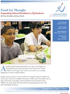FirstSchoolBreakfastReport