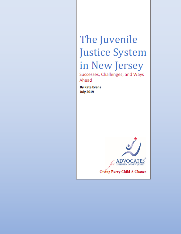 Kate Evans Report - The Juvenile Justice System in New Jersey: Successes, Challenges, and Ways Ahead