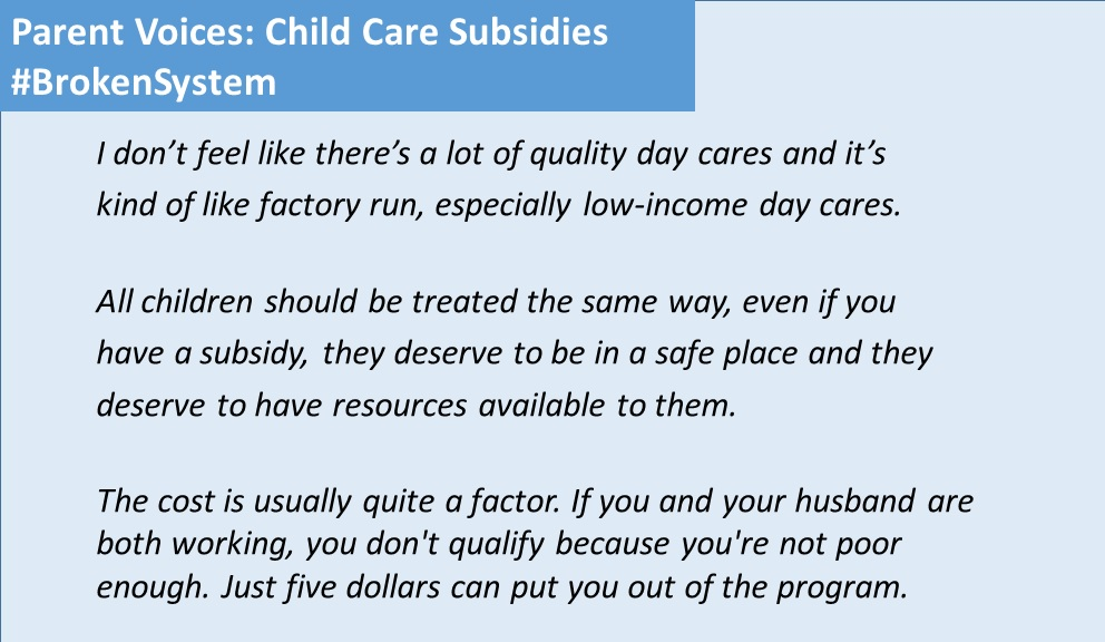 Parent Voices: Child Care Subsidies Broken System