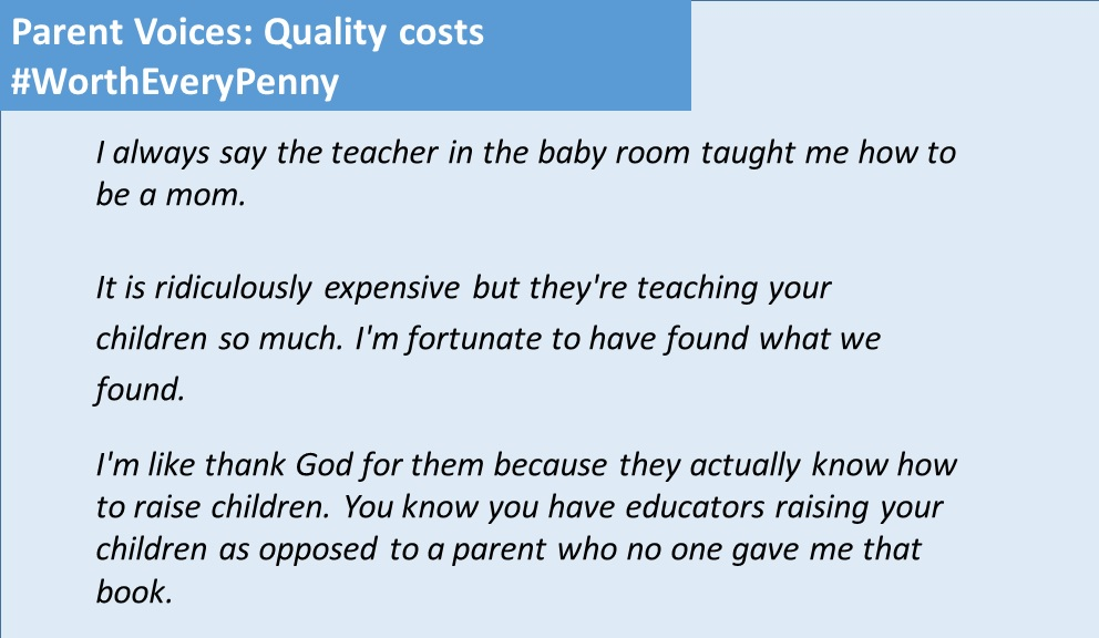 Parent Voices: Quality costs Worth Every Penny